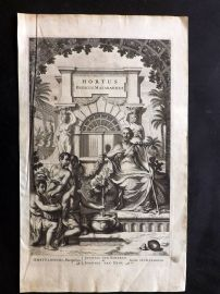 Drakenstein 1678 Hortus Indicus Malabaricus Engraved Title Page